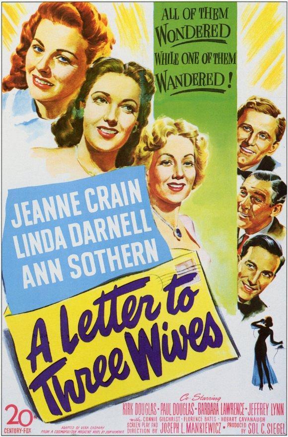 cartel de la película Carta a tres esposas
