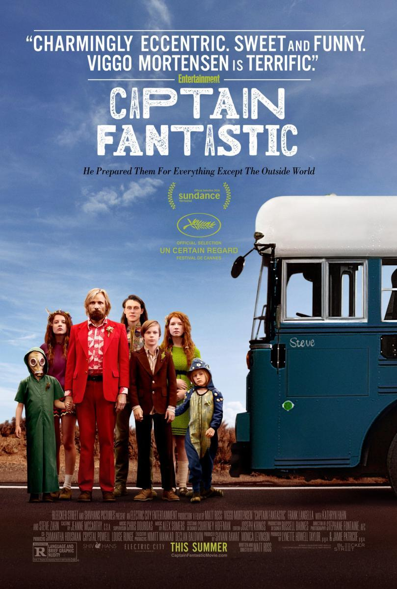 cartel de la película Captain Fantastic
