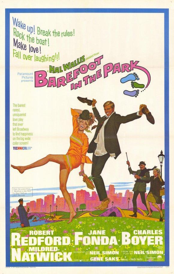 cartel de la película Descalzos por el parque