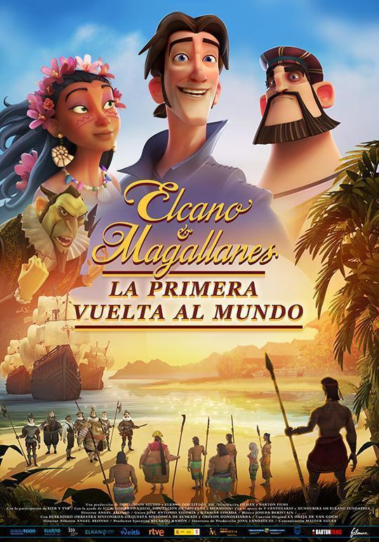 cartel de la película Elcano y Magallanes, la primera vuelta al mundo