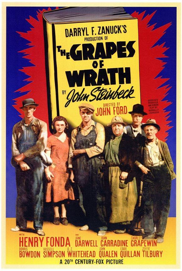 cartel de la película Las uvas de la ira
