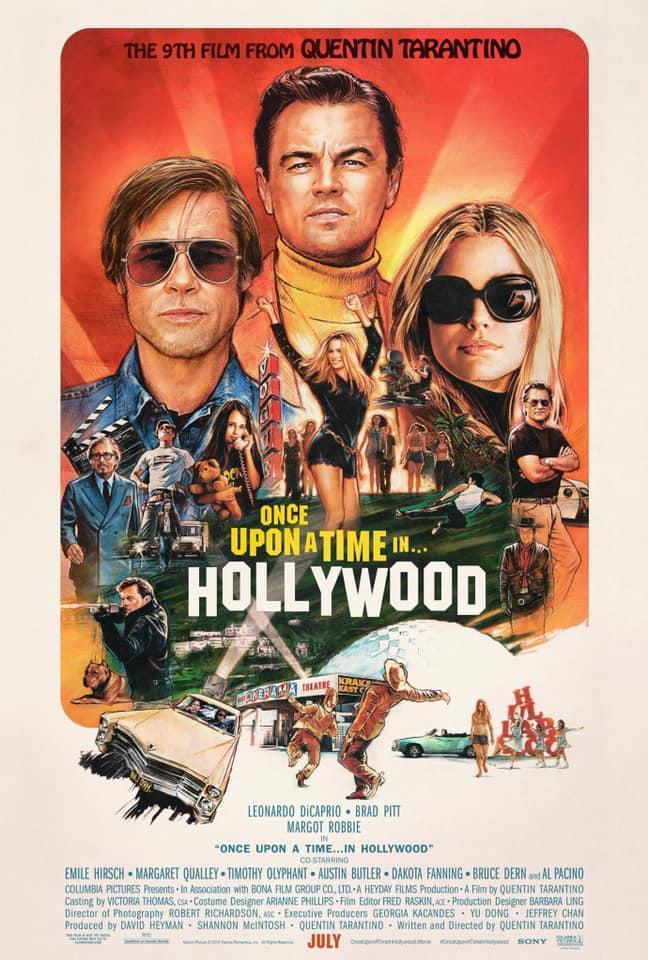 cartel de la película Érase una vez en... Hollywood