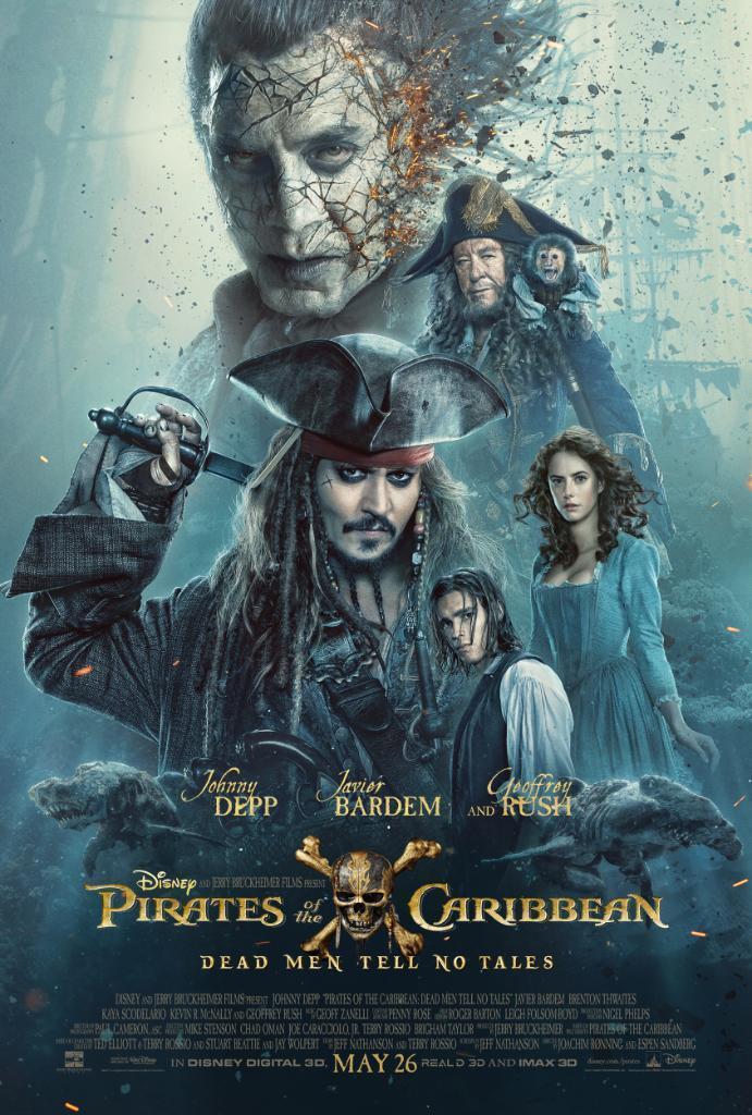 cartel de la película Piratas del Caribe: La venganza de Salazar