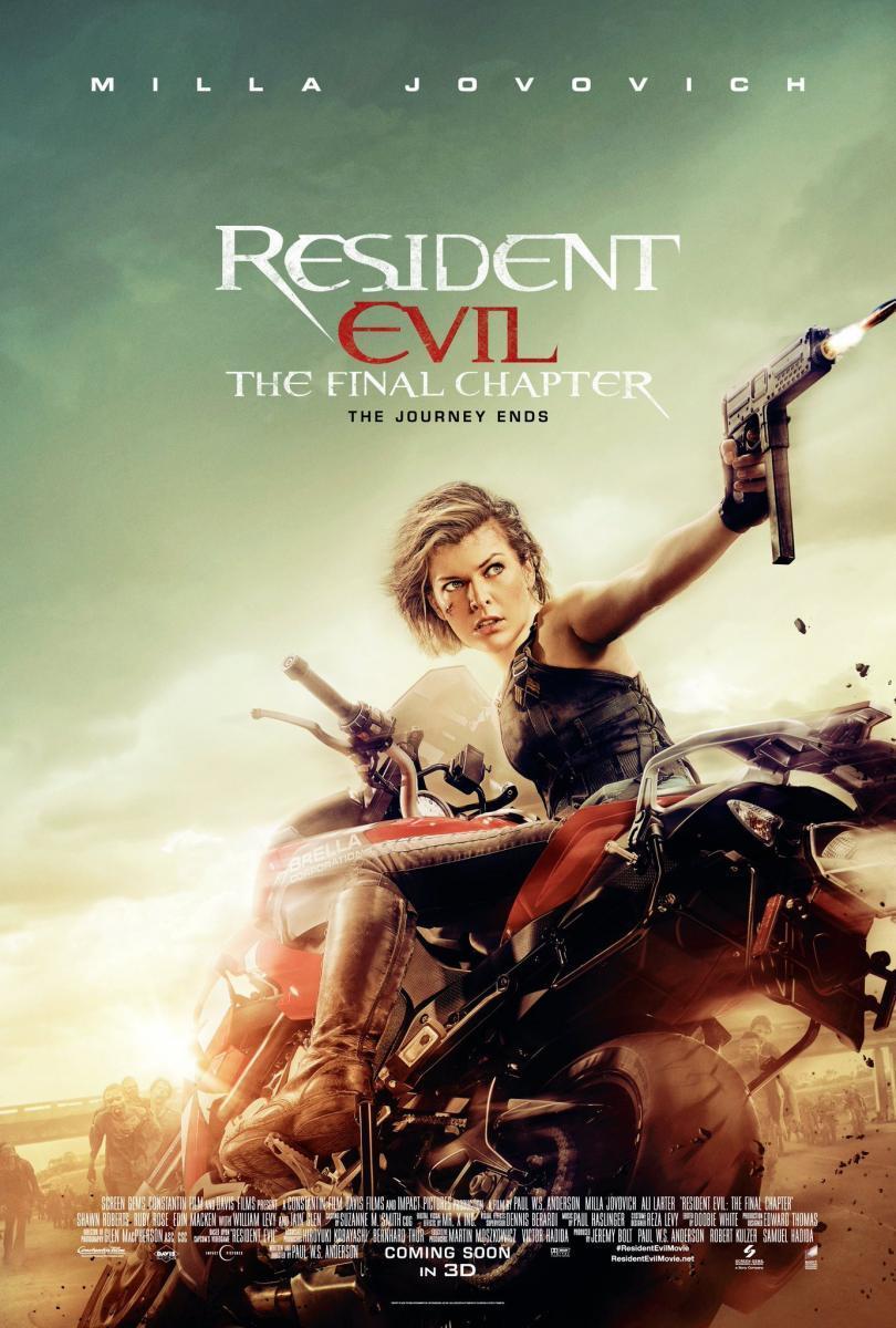 cartel de la película Resident evil: Capítulo final