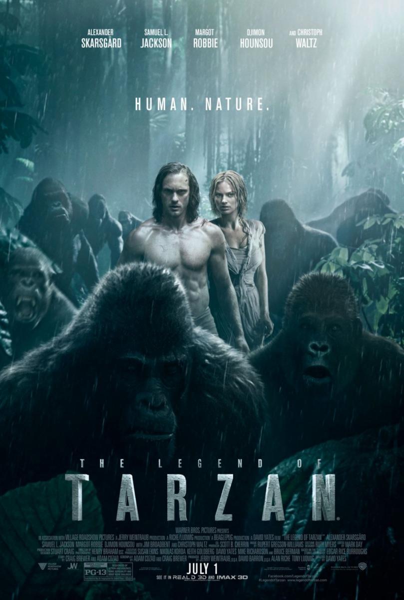 cartel de la película La leyenda de Tarzán