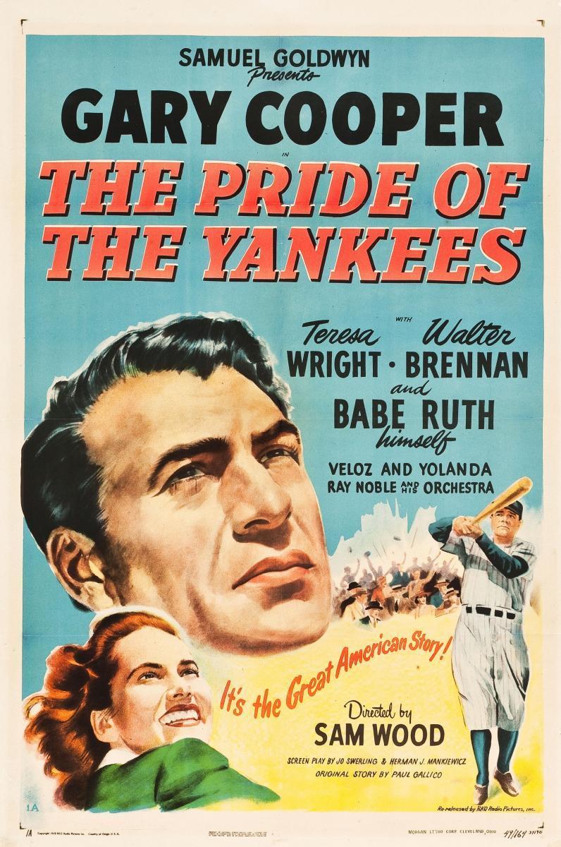 cartel de la película El orgullo de los Yanquis